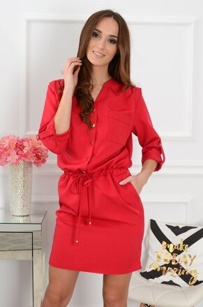 0a923907dfa9 Červené šaty so zapínaním Melissa CO-36380