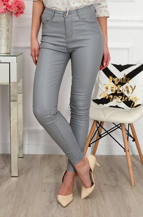 23a82dd24642 Koženkové sivé nohavice