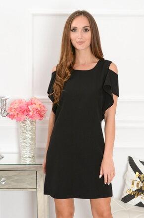 7ea12bd474c8 Elegantné šaty s odhalenými ramenami Adria CO-37943 čierne
