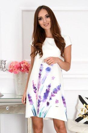 76a0e4d37476 Šaty s fialovými kvetinami CO-37532