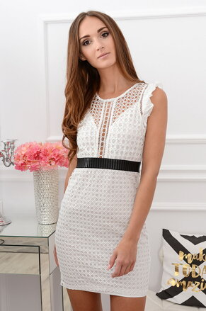 0c55762e3271 Krajkované biele šaty Fergie Summer CO-38605