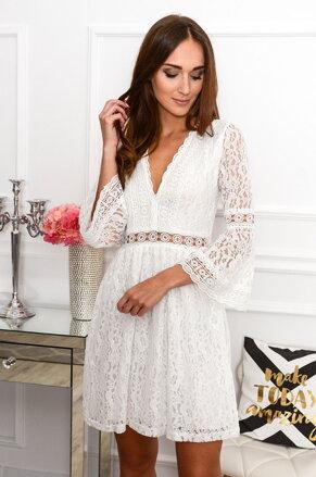 95439f25e2 Krajkované biele šaty Malta CO-38496