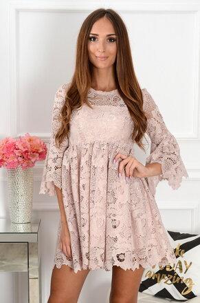 b6159f23f341 Krajkované staroružové šaty Magnetica New
