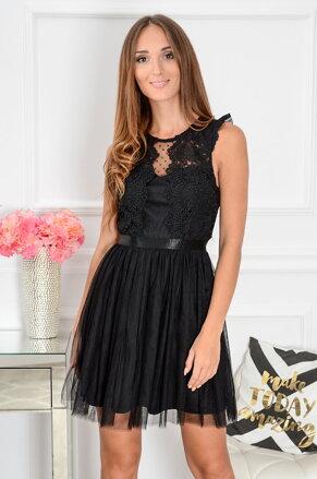 46e8cd24ac48 Čierne krajkované šaty Nixie CO-39552
