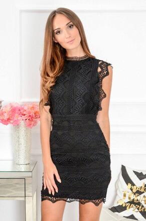 41ad12980901 Čierne krajkované šaty Kendal CO-39507