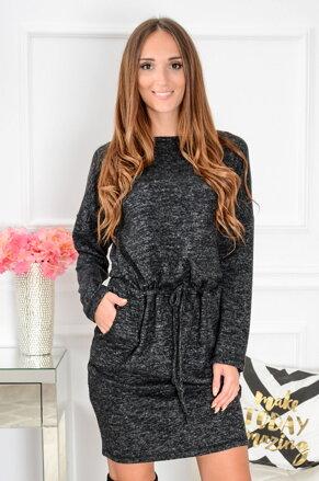 Teplé ležérne šaty Octavia CO-39696 šedé 5f3887690d8