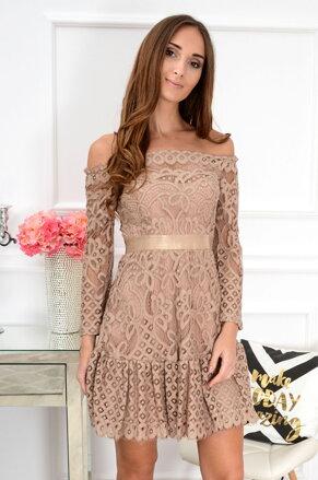 31e5a511a1a Krajkované šaty Luna CO-40468cappucino
