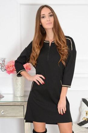650717c64d Čierne šaty so zipsom Sara CO-41083