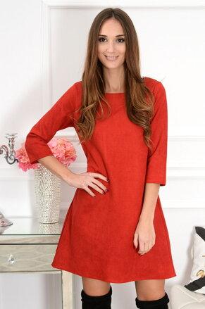 b1565d5396 Červené semišové šaty Sammy CO-41095