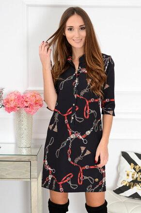 Čierno-červené šaty Angie CO-41139 e7d0b0df2bd