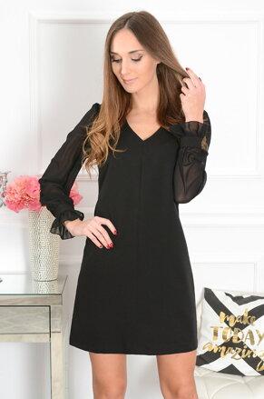 b263ddd54 Šaty so šifónovými rukávmi Margot CO-41464 čierne