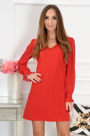 ae0c7d3df356 Šaty so šifónovými rukávmi Margot CO-41476 červené