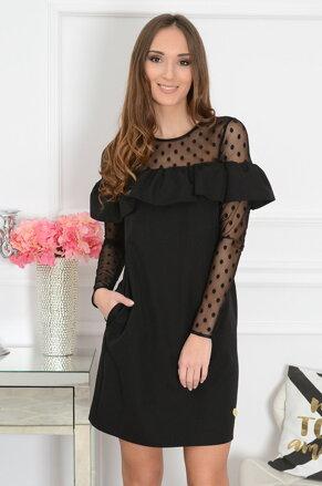 4f09d9c4ca93 Elegantné čierne šaty Firenze CO-41928