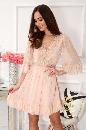 Luxusné telové šaty s krajkou Tiuli 4962ca31af7