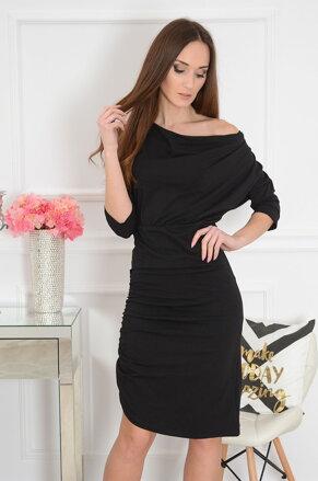 Teplákové čierne šaty Malwa eb459f1de86