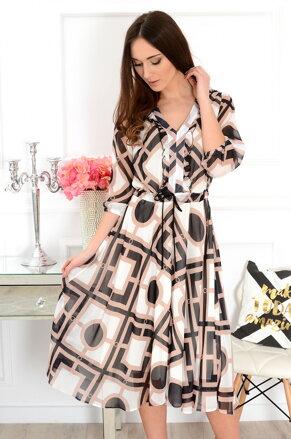 a67dad3fad2f Vzorované midi šaty Matilda