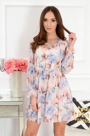 0d0995ca8350 Béžové šifónové šaty Estela