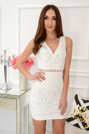 93c386212b71 Biele krajkované šaty Frida