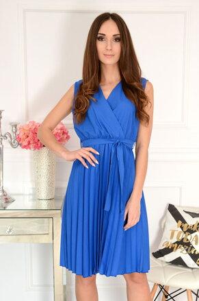 258099de562a Modré plisované šaty Abigail