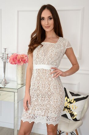 2b34b9e33631 Luxusné krajkované šaty Astrid. NEW