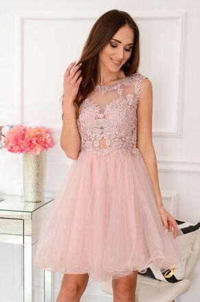 a8b4946e4426 Staroružové šaty s tylovou sukňou Patrizia