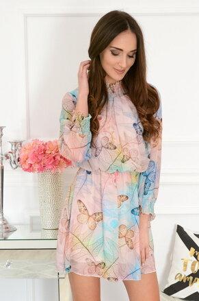 64d307777f2f Púdrové šifónové šaty s motýľmi Cybill