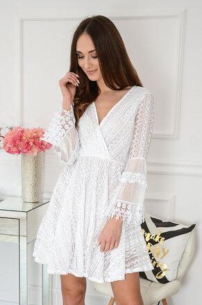 2fd992973659 Krajkované biele šaty Julieta