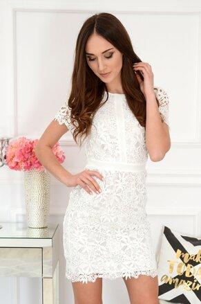 ea26edf8cd7d Biele krajkované šaty Indigo New