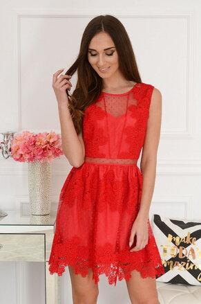 50c2335d6876 Spoločenské krajkované šaty Pella