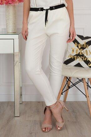 ab7e9c56dae8 Elegantné smotanovo-biele nohavice Lovato