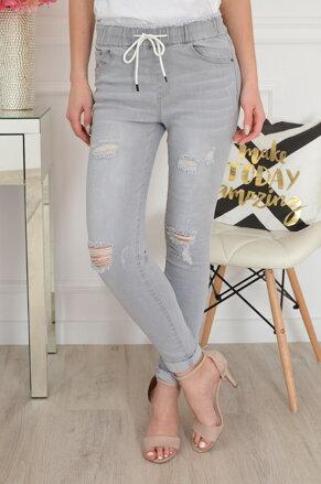 268600610ec7 Športové džínsové nohavice sivé