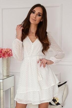 eb087813c5e4 Šifónové biele šaty Ivanka