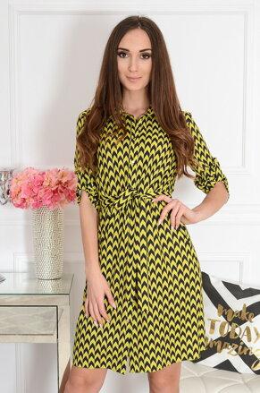 4f19fac2bb63 Košeľové šaty so vzorom Irlaja