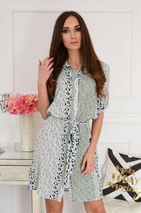 66c9ff6877e9 Košeľové šaty s leo motívom Irlaja