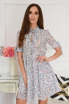 49b5101eb152 Kvetované šaty s viazaním Marsha