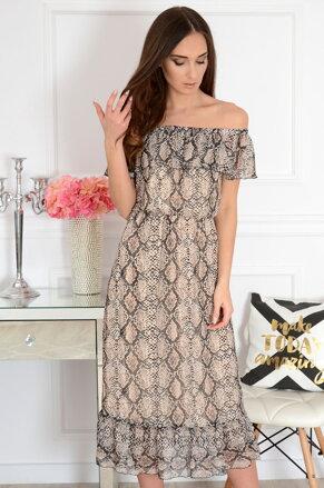 ba97d76a24a6 Midi šaty s hadím motívom Arizona