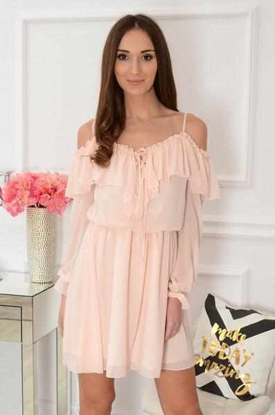 Romantické púdrové šaty Marija d9723eff6e0